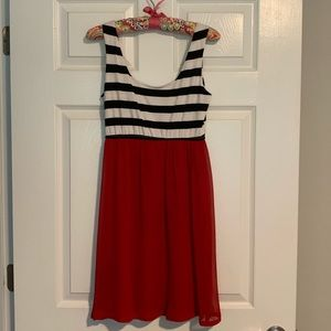 Judith March Red & Black Dress